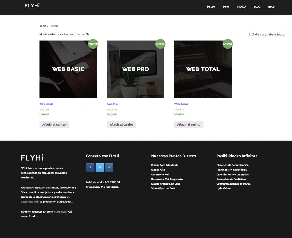 Ejemplo Tienda Online - E-Commerce WordPress WooCommerce