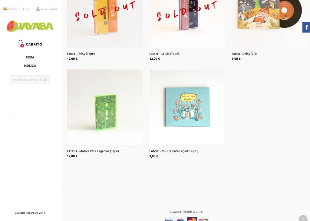 Ejemplo Tienda Online PrestaShop Escritorio