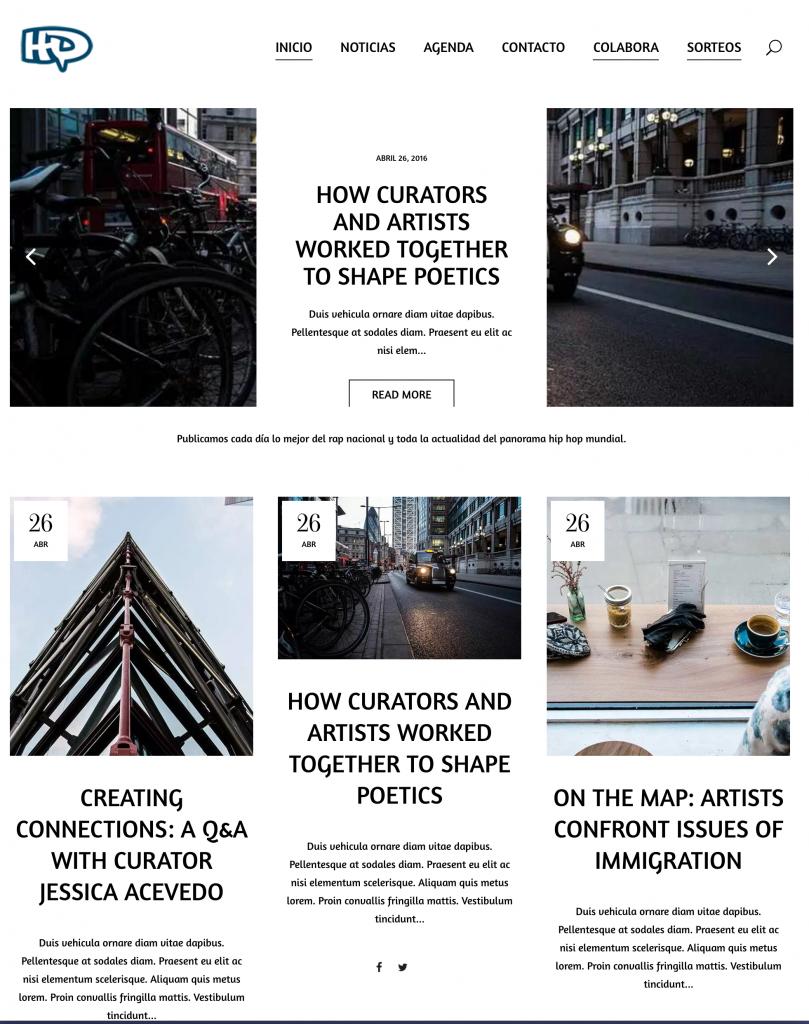 Ejemplo Web Revista - Blog