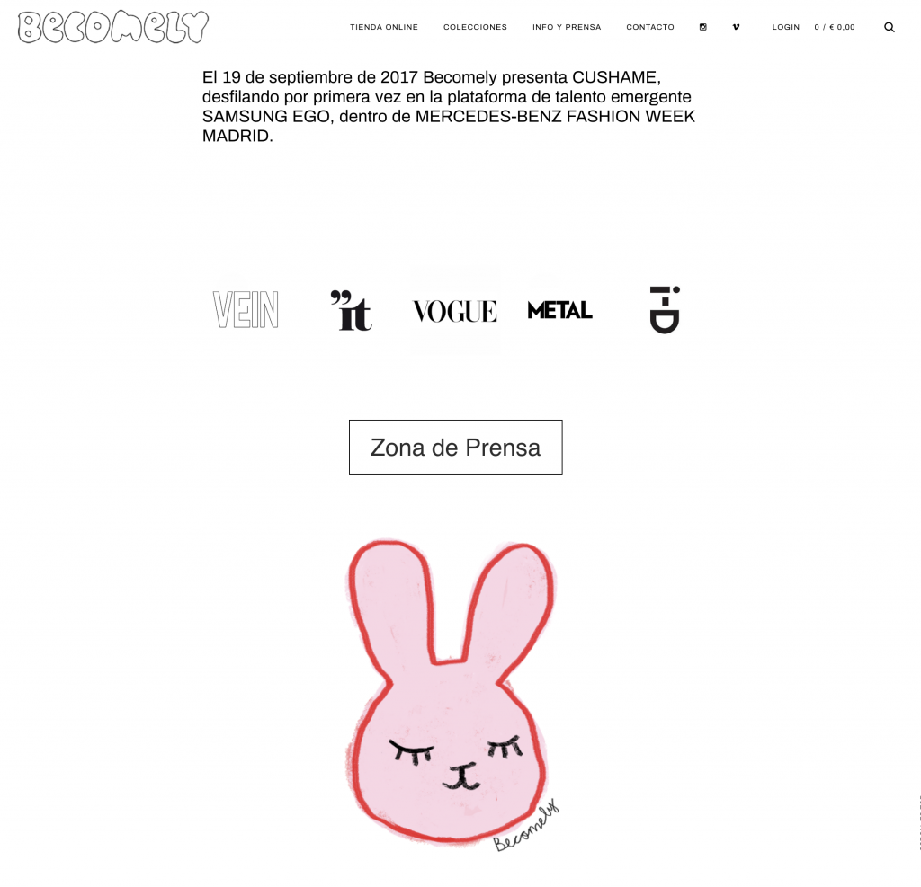 Ejemplo Diseño Web Minimalista 2